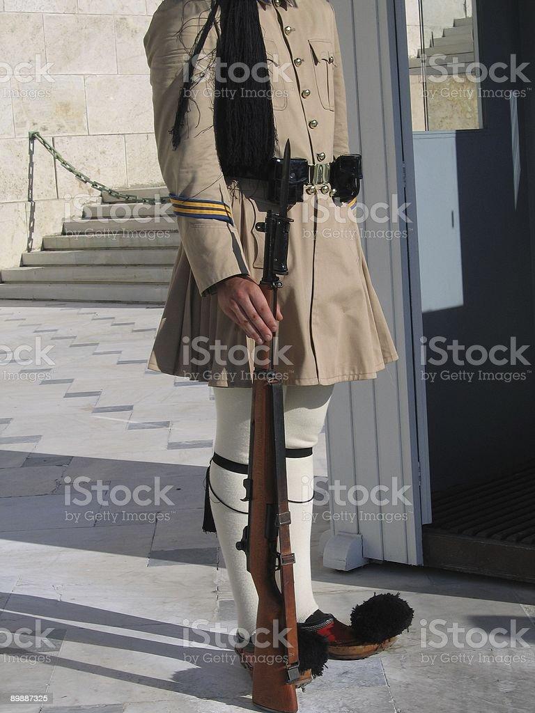 Greek guard royalty-free stock photo