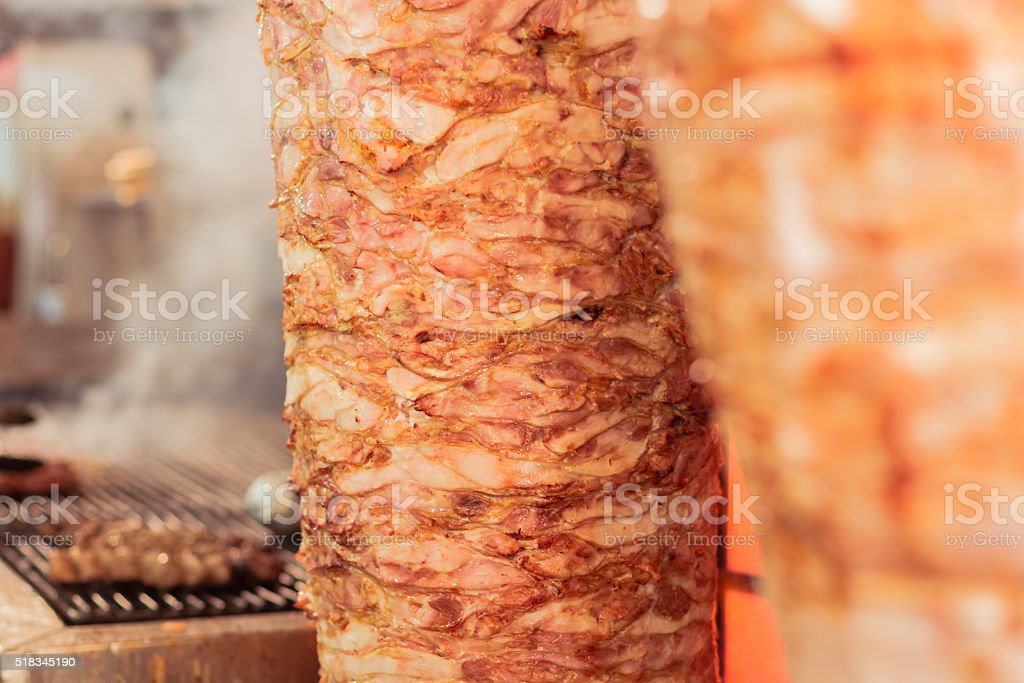 Greek gyros, meat,, Athens Greece, national food, traditional Greek cuisine stock photo