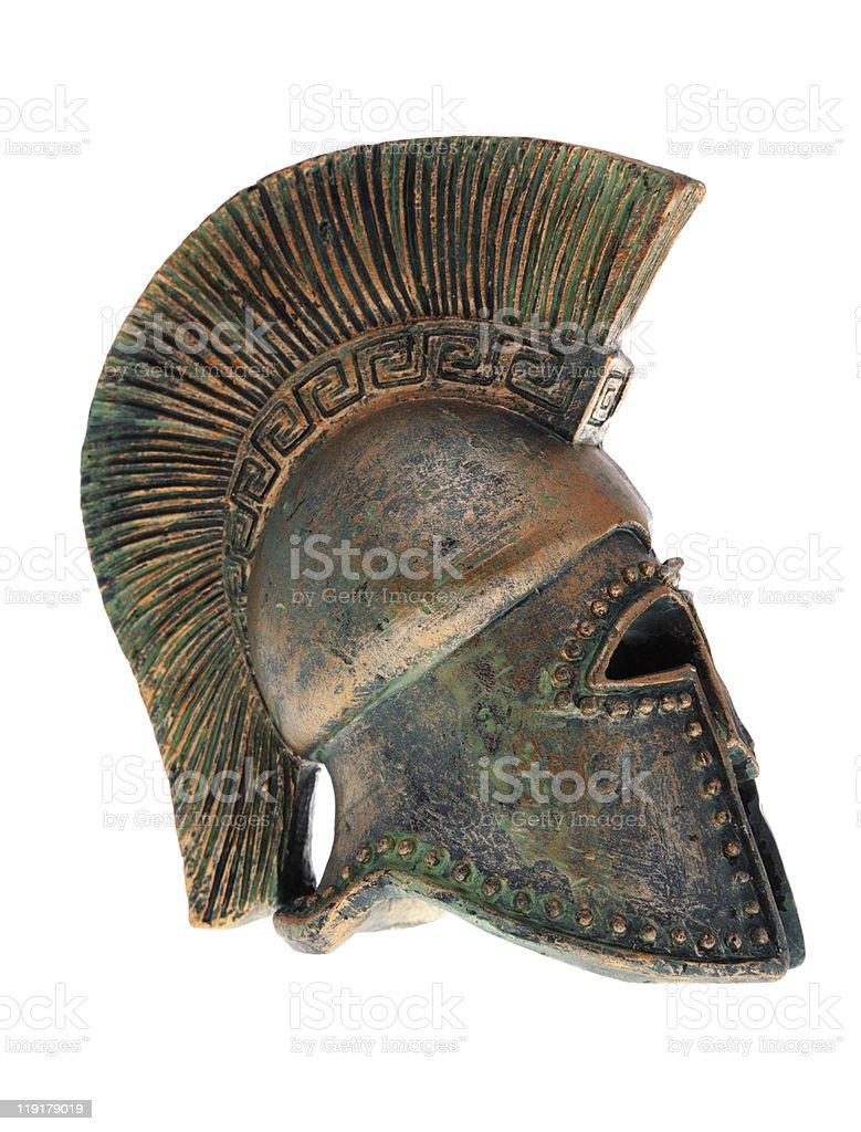 Greek helmet. stock photo