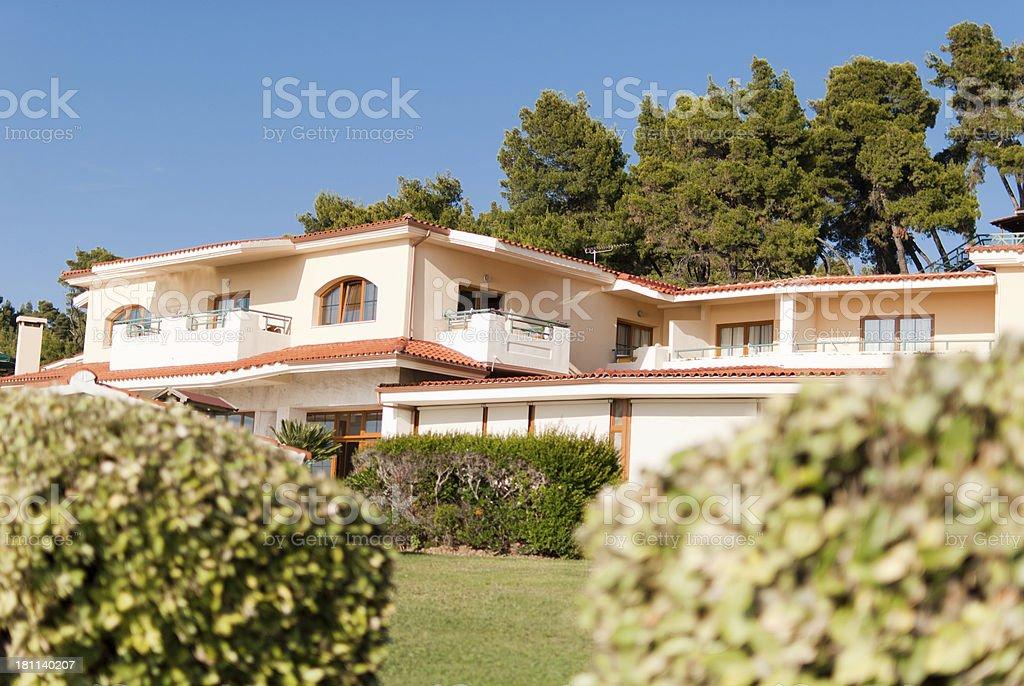 Greek hotel royalty-free stock photo