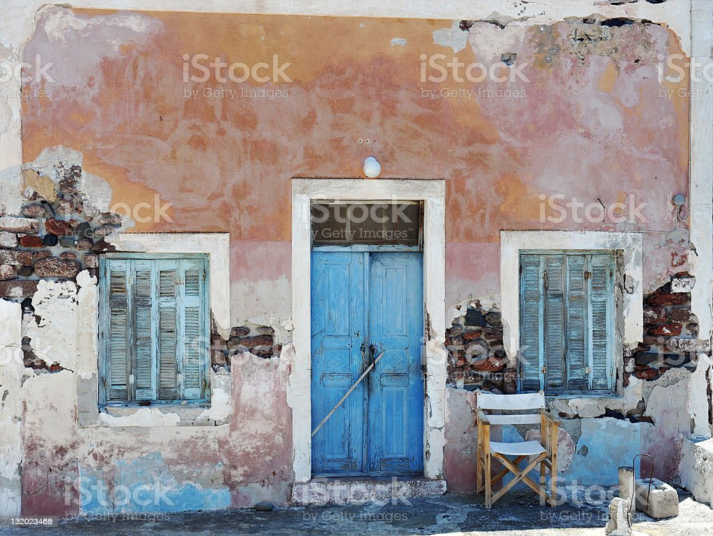 Greek House royalty-free stock photo