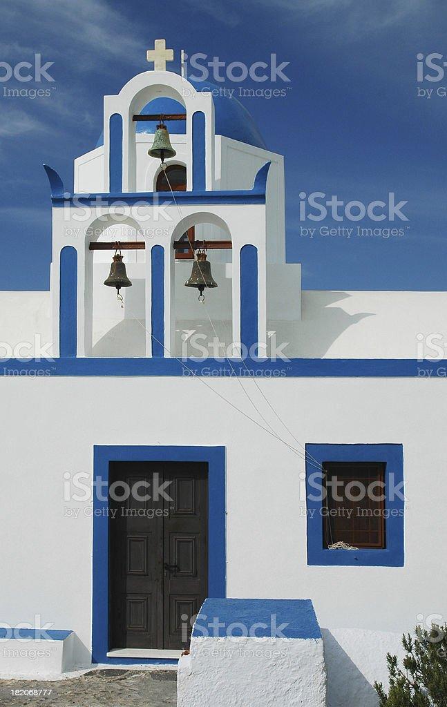 Greek Island Chapel Bell Tower royalty-free stock photo
