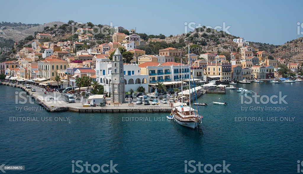 Greek island of Symi at the Aegean sea Lizenzfreies stock-foto
