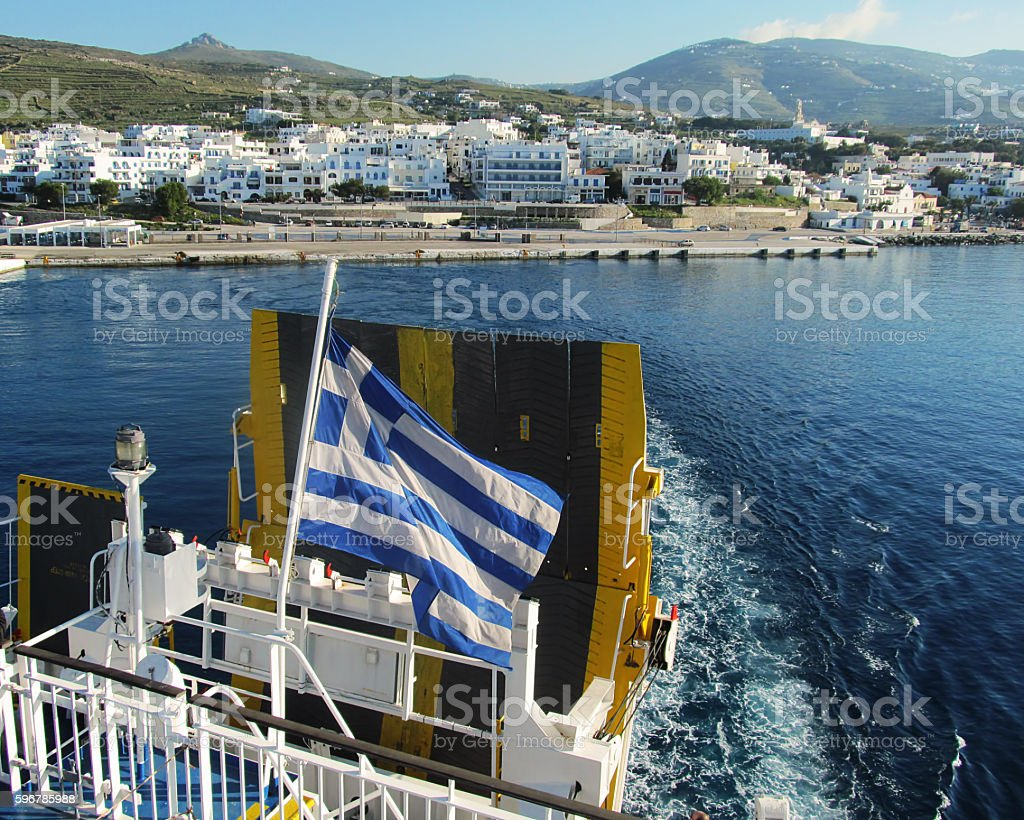 Greek islands cruising stock photo