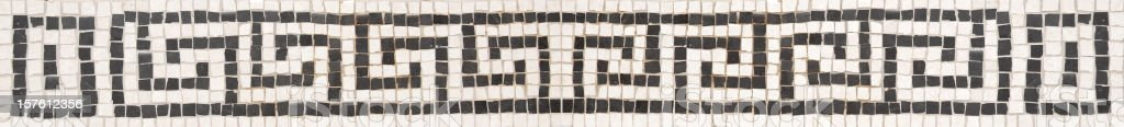 Greek key fret pattern made with mosaics stock photo