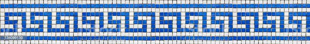 Greek key pattern mosaic royalty-free stock photo