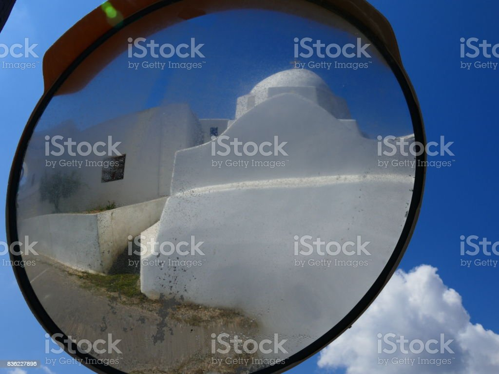 Greek landscape in Paros island stock photo