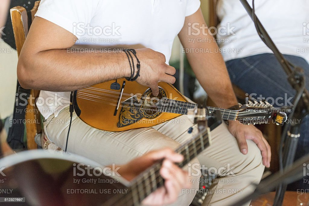 Greek mandolin I. stock photo