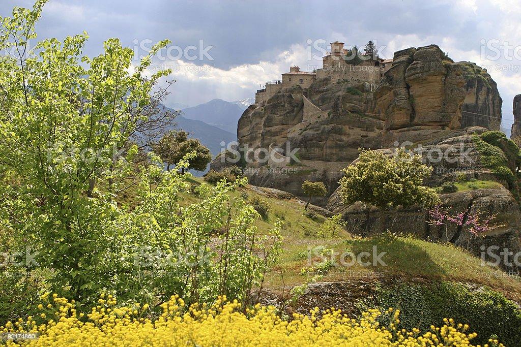 Greek Monastery royalty-free stock photo