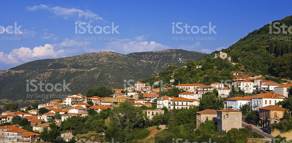 Greek mountain village royalty-free stock photo