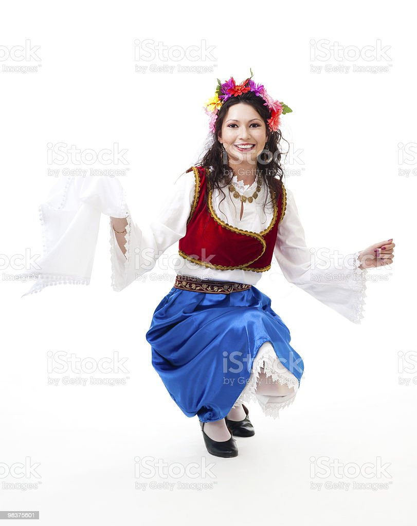 Greek national dance royalty-free stock photo