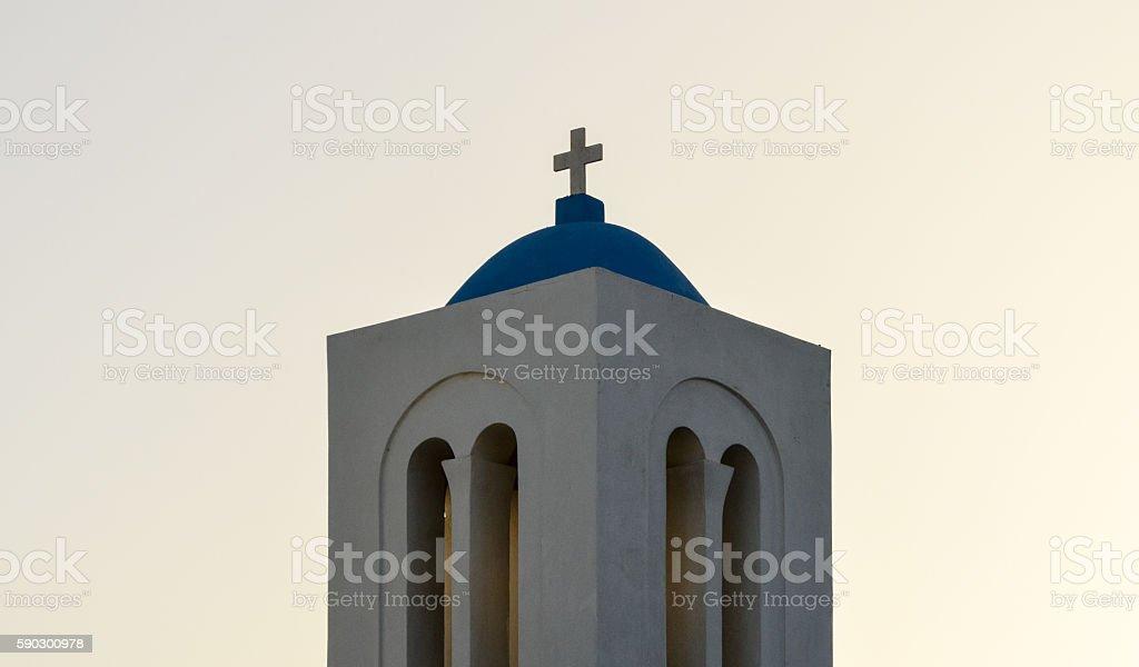 Greek Orthodox church during sunset on the Greek Isles Стоковые фото Стоковая фотография