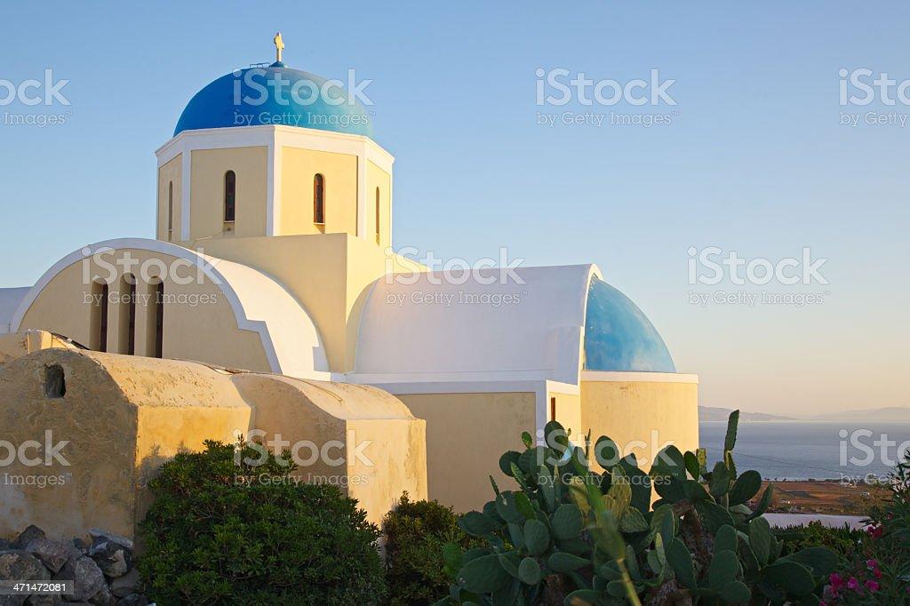 Greek Orthodox church in Oia royalty-free stock photo