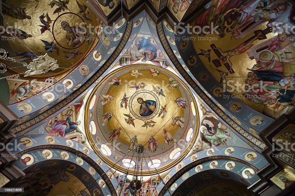 Greek Orthodox Church of the Seven Apostles stock photo