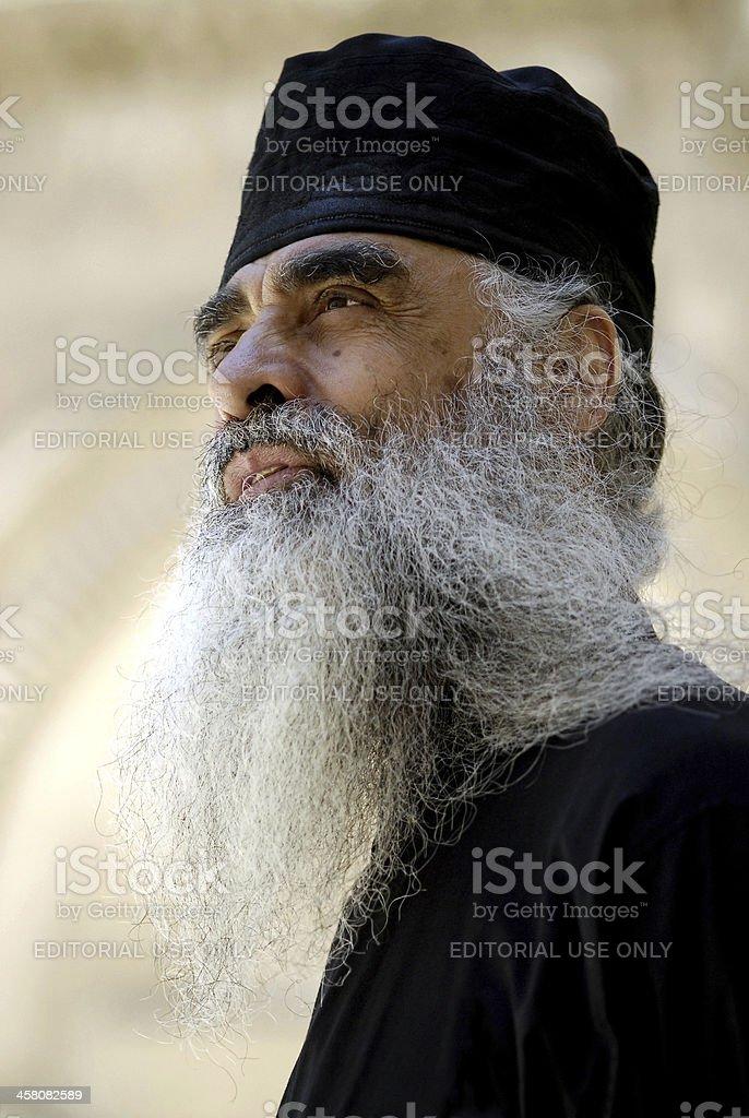 Greek Orthodox Priest, Jerusalem stock photo