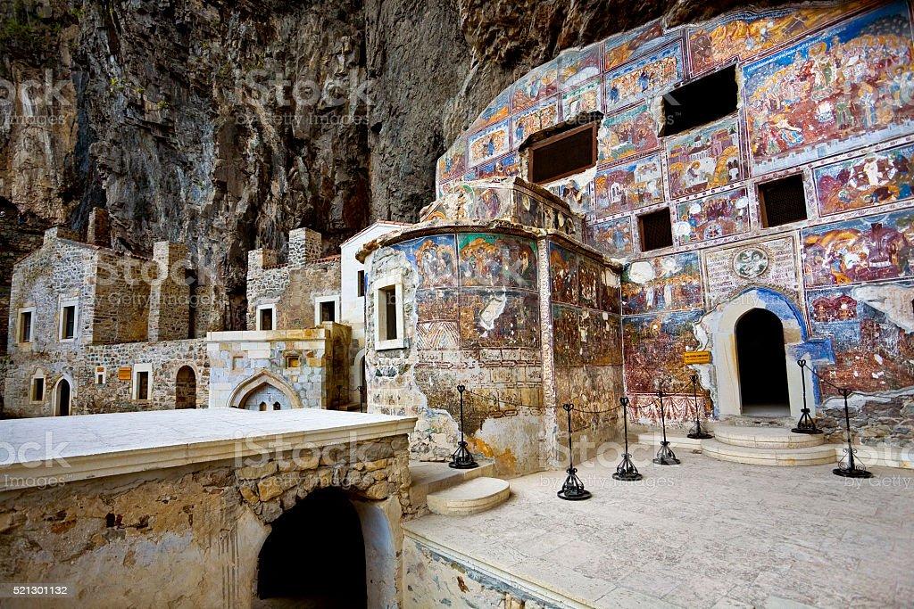 Greek Orthodox Sumela Monastery stock photo