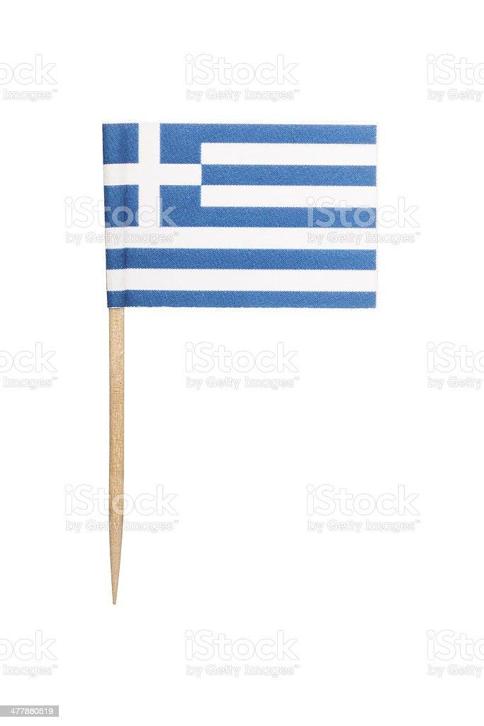 Greek paper flag stock photo
