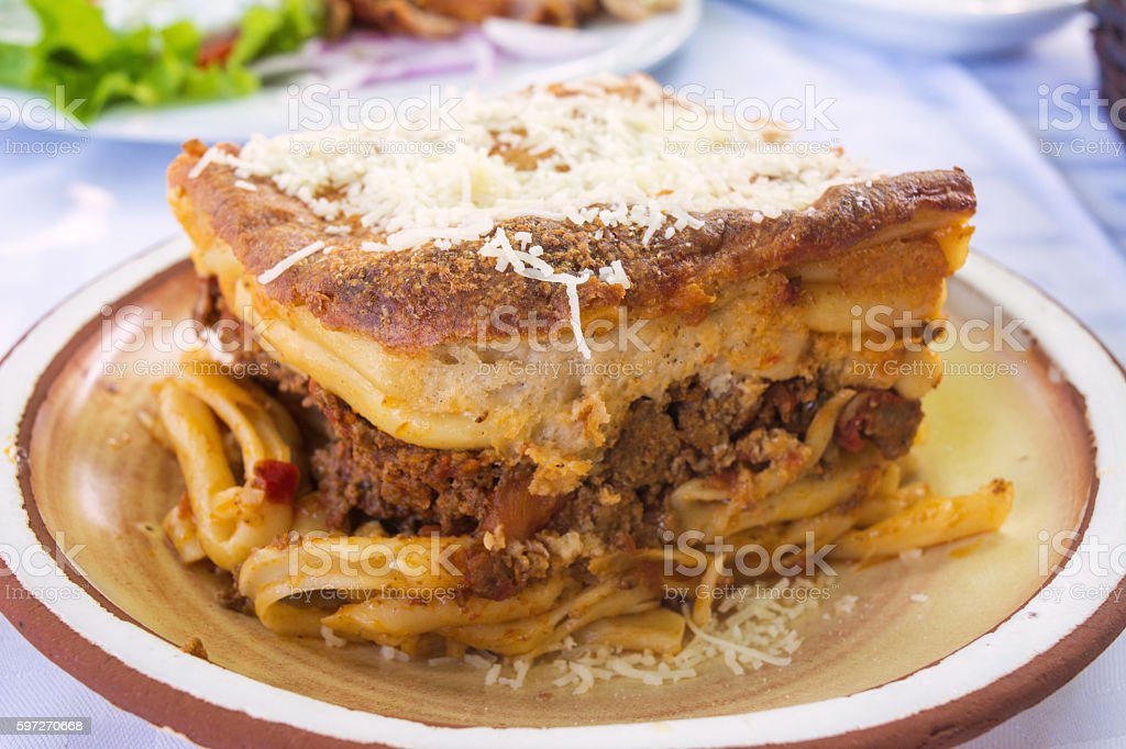 Grec Pastitsio plat photo libre de droits