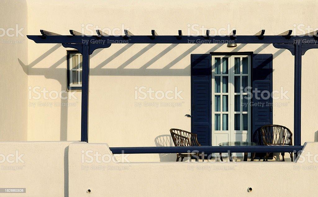 Greek Patio royalty-free stock photo