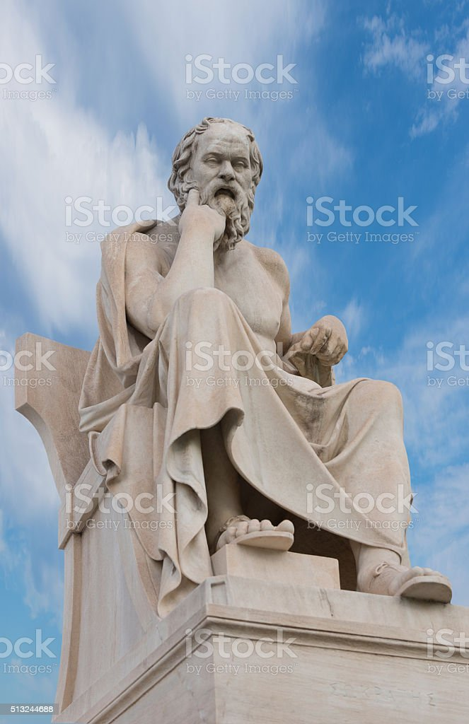 Greek Philosopher Aristoteles Sculpture stock photo