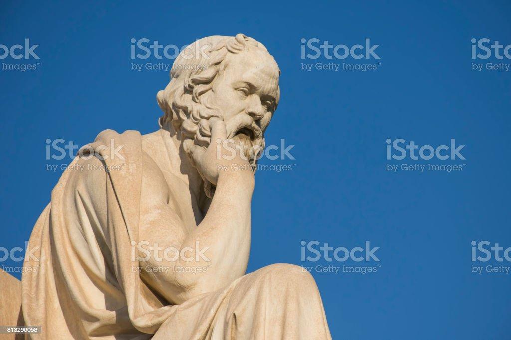 Greek philosopher Socrates stock photo