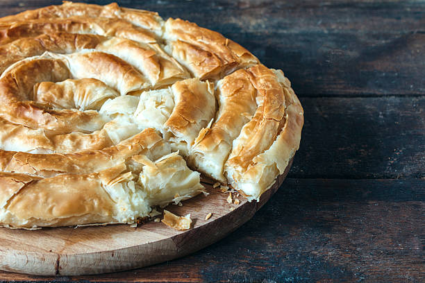 Greek pie stock photo