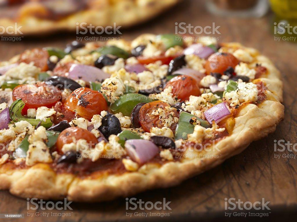 Greek Pizza stock photo