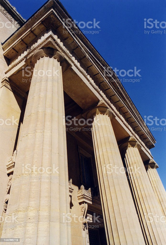 Greek Revival Architecture royalty-free stock photo