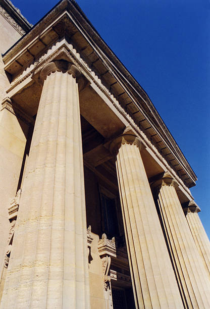 Greek Revival Architecture stock photo