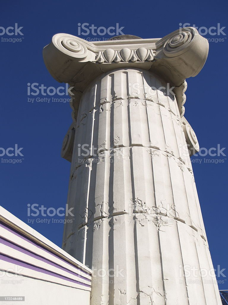 Greek Roman Pedestal Scroll Work Column royalty-free stock photo