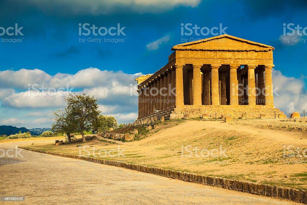 Rovine del Tempio greco Concordia - foto stock
