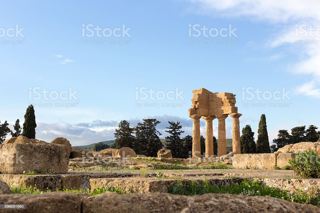 Greek ruins of Temple royalty-free stock photo