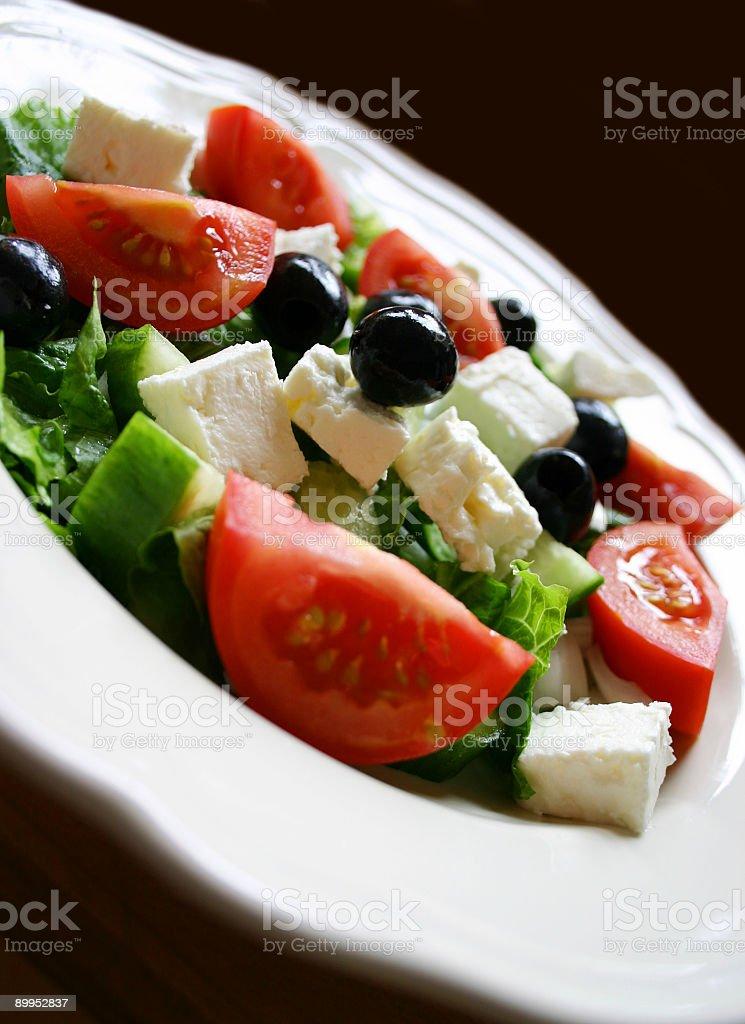 Greek Salad Close Up royalty-free stock photo