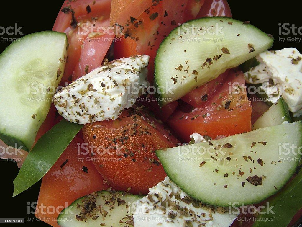 Greek salad closeup royalty-free stock photo