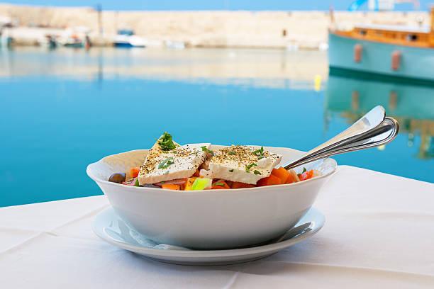 Greek salad. Crete stock photo