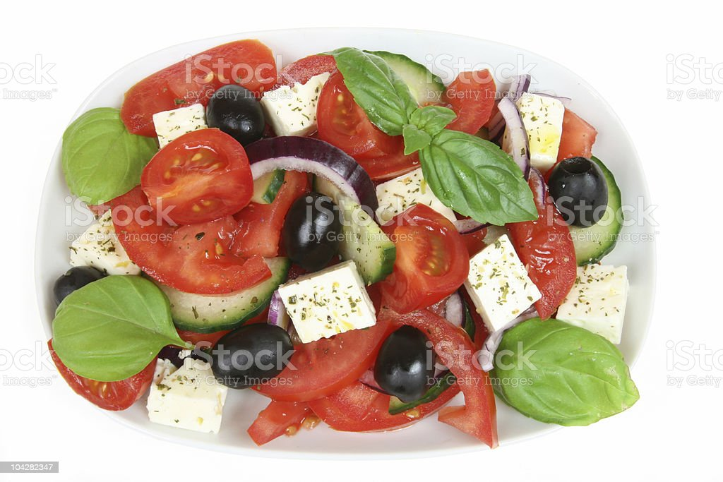 Greek salad royalty-free stock photo