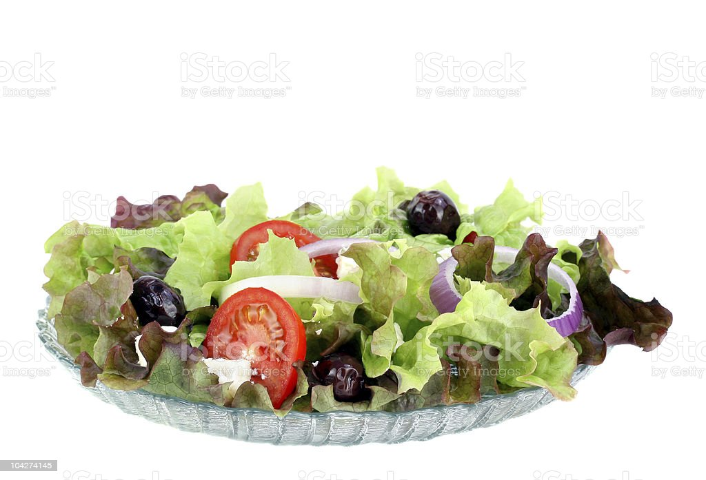 Greek Salad with Feta Cheese royalty-free stock photo