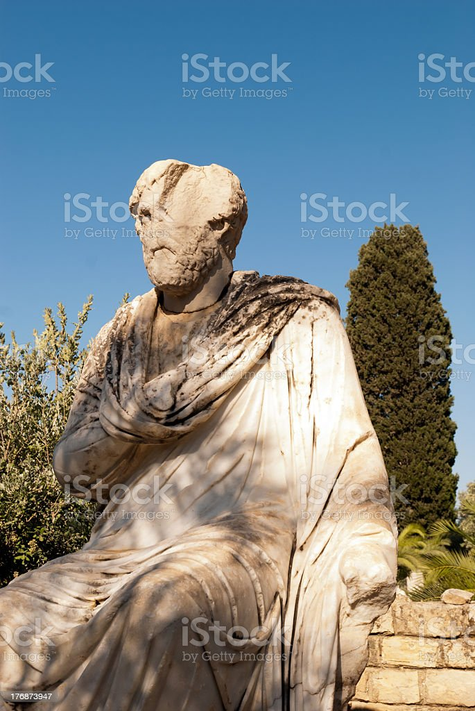 greek sculpture royalty-free stock photo