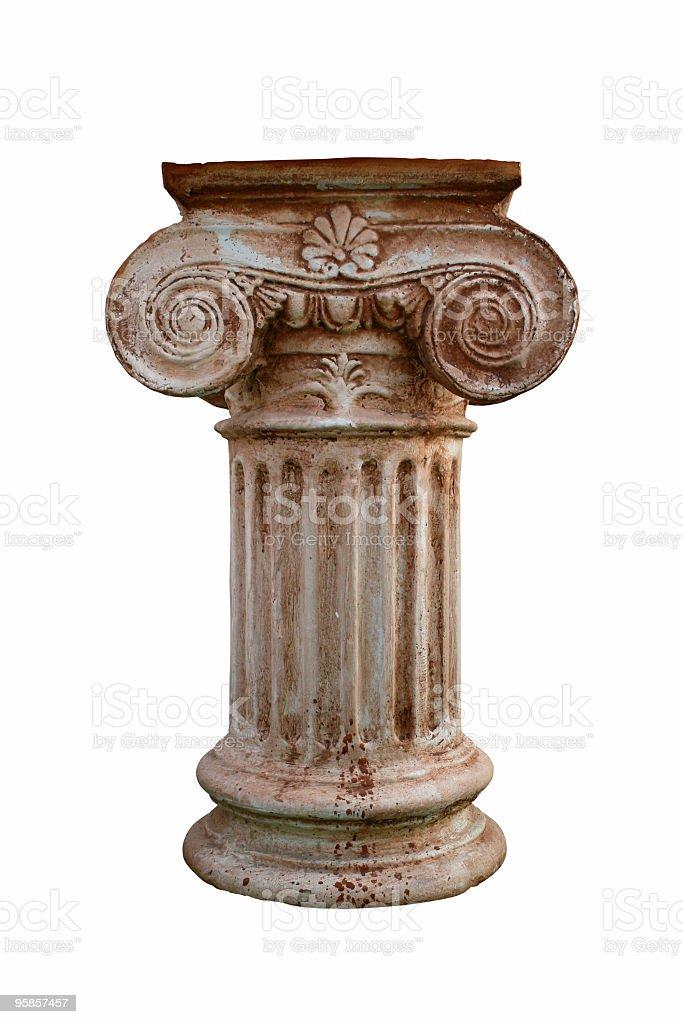 Greek short column royalty-free stock photo