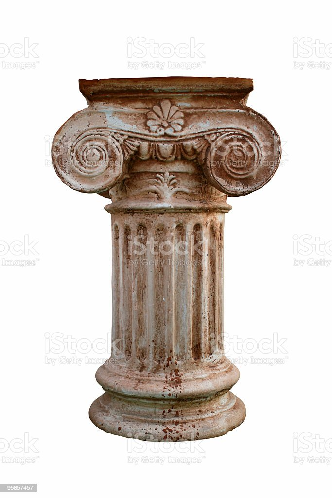 Greek short column stock photo