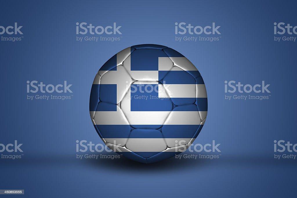 Greek soccer ball royalty-free stock photo
