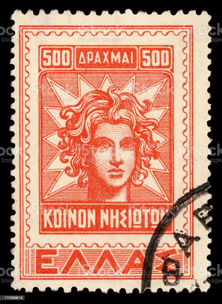 Sello de griego foto de stock libre de derechos