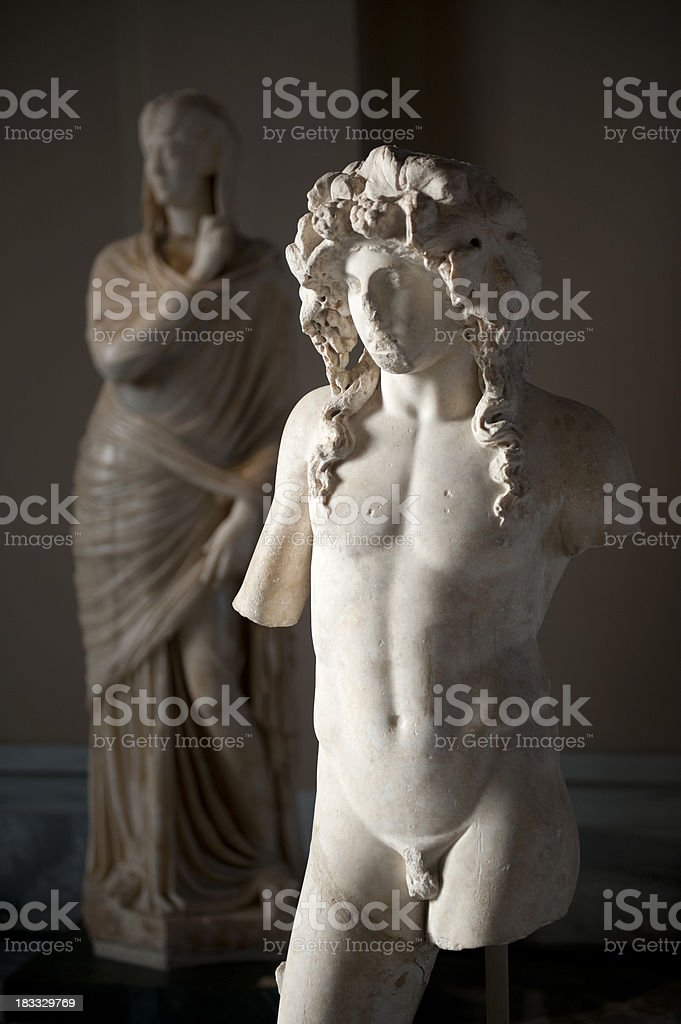 greek statues royalty-free stock photo