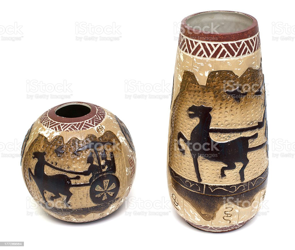 greek style vases royalty-free stock photo