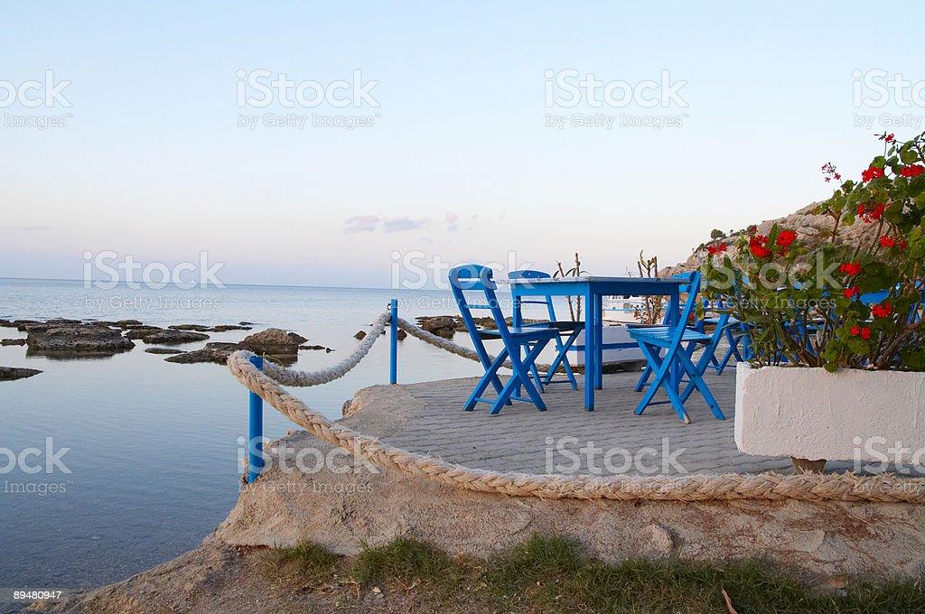 greek taverna royalty-free stock photo