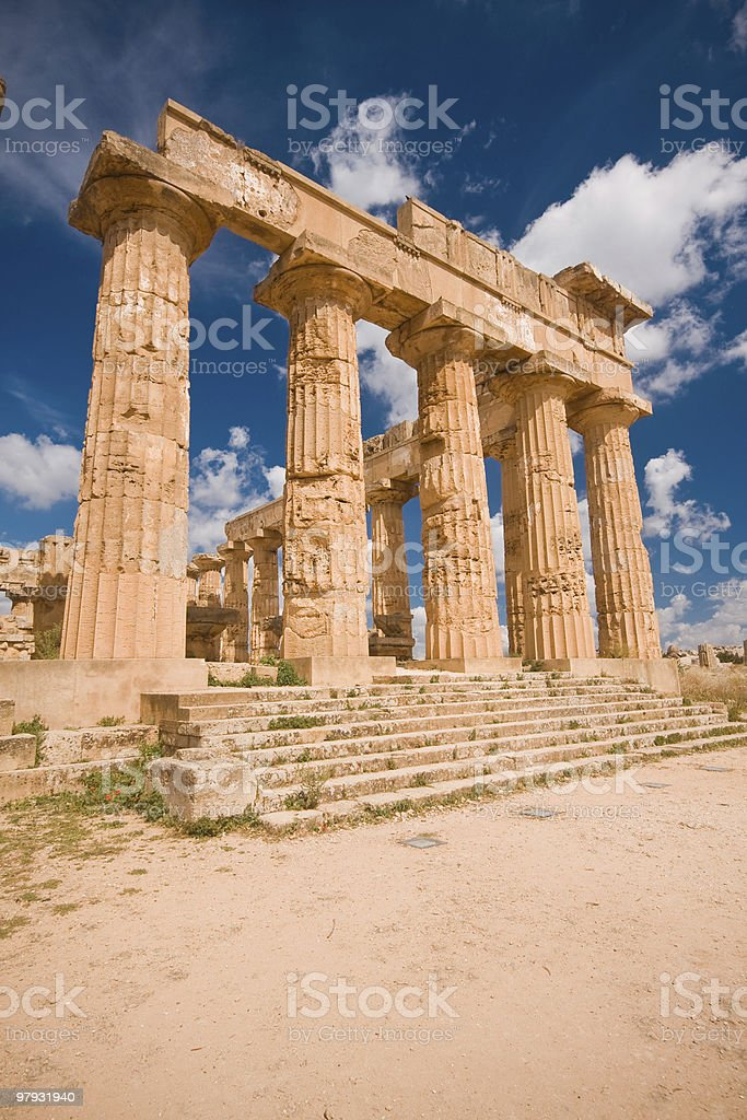 Greek temple in Selinunte royalty-free stock photo