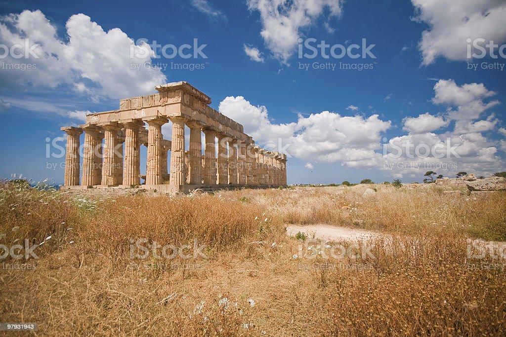 Greek temple in Selinunte royalty-free stock photo
