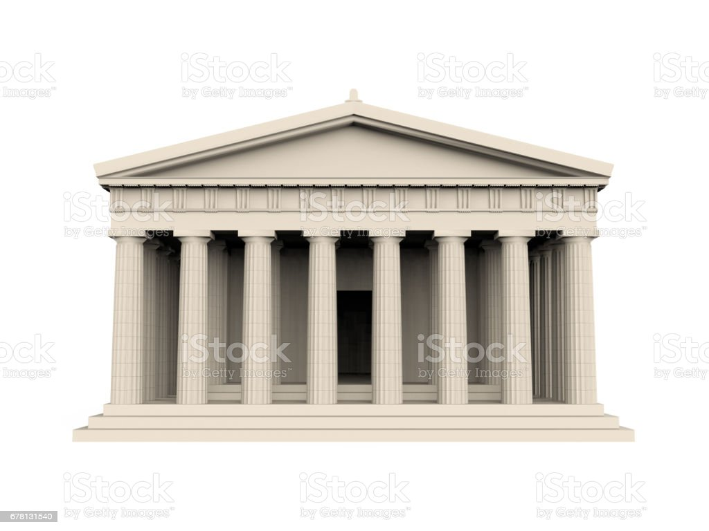 Greek Temple Isolated stock photo