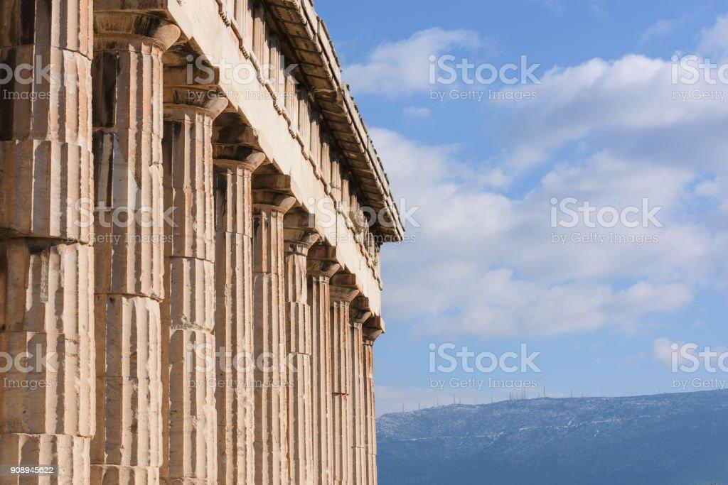 Greek temple of Hephaistos, Athens stock photo