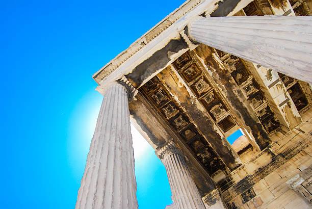 Greek temple stock photo